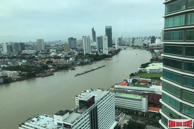 Every Room with River Views  in this Three Bedroom Condo for Rent  in Saphan Taksin