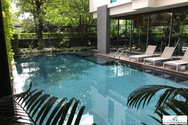 Sunny One Bedroom Loft Style Condo with Small Garden on Sukhumvit 39
