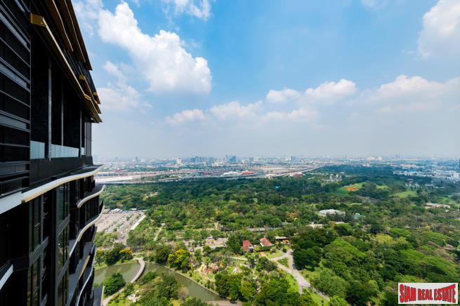 Breathtaking Park and City Views from this Two Bedroom in Chatuchak