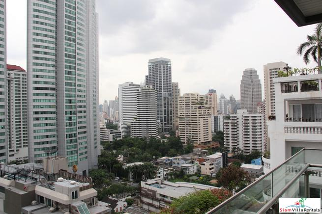Three Bedroom Corner Serviced Apartment with 180 Degree City Views in Asok