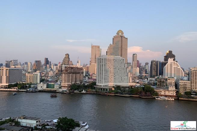 Large 2 Bed Corner Unit on the 59th Floor for Rent at The River Condominium, Bangkok