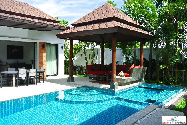 Tropical Two Bedroom Villa with Private Pool and Garden in Cherng Talay