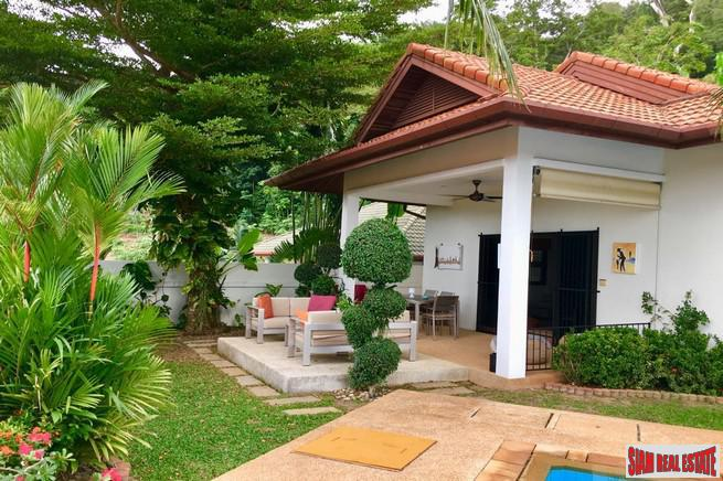 Private and Quiet Two Bedroom Villa with Pool and Mountain Views in Rawai