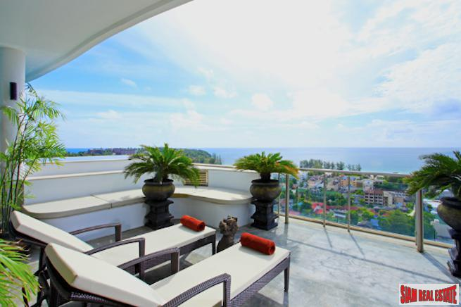 Spectacular Sea Views from this Four Bedroom  Penthouse Duplex in Karon