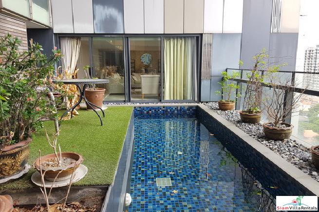 The Met Sathorn | Elegant Chong Nonsi Three Bedroom with Private Swimming Pool on the 16th Floor
