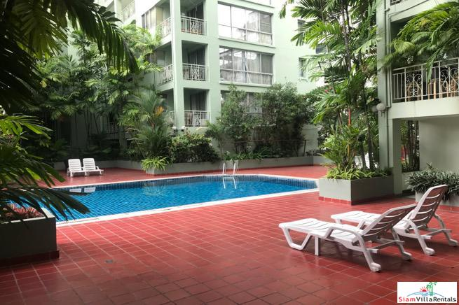 Tropical Green Garden Views from this Two Bedroom Condo at Thong Lor, Sukhumvit 53