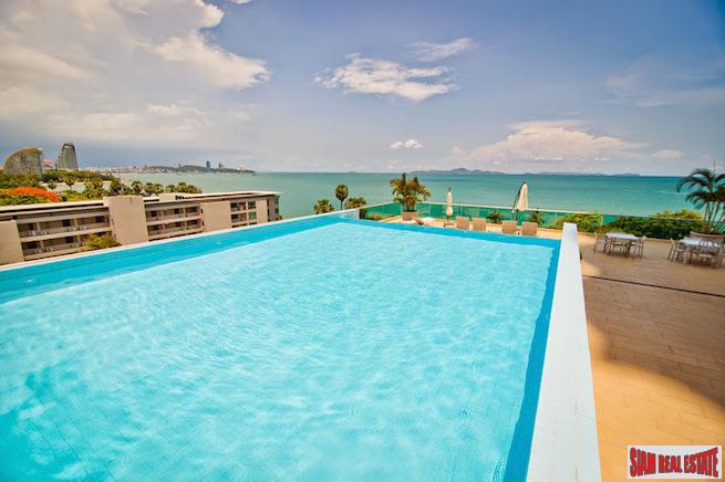 Modern Two Bedroom Condo  with Rooftop Infinity Pool and Steps to  Wongamat Beach