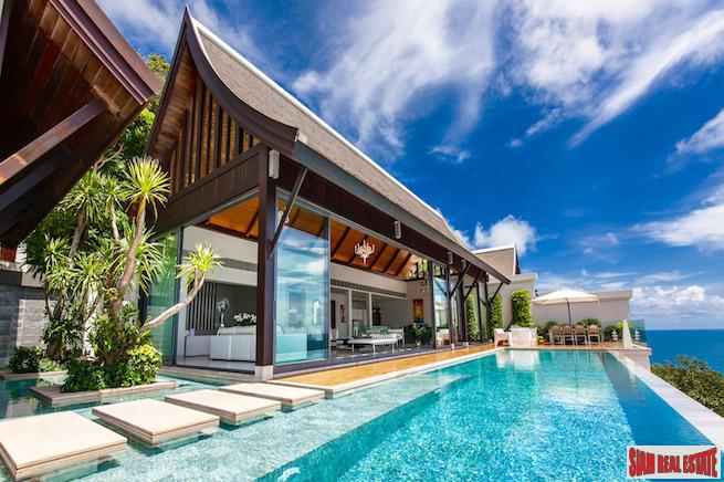 Breathtaking Sea Views from this Five Bedroom Pool Villa in Nai Thon