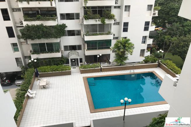 Inviting Pool Views from this Three Bedroom Condo for Rent in Lumphini