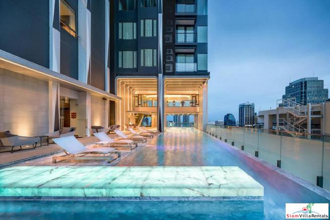 Brilliant City Views and Close to BTS Asoke from this Two Bedroom Condo