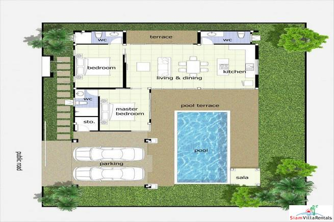 Large Comfortable Two Bedroom Pool 20