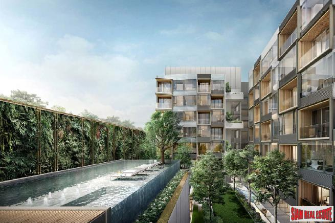 Luxury New Condo in Garden Courtyard Setting in the Heart of Bangkok at Phrom Phong.