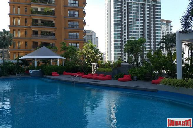 Big  and Open Two Bedroom Condo with City Views in Phrom Phong