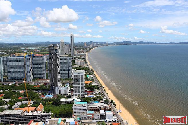Ocean  Views from the Bedroom in this One Bedroom Condo in Jomtien