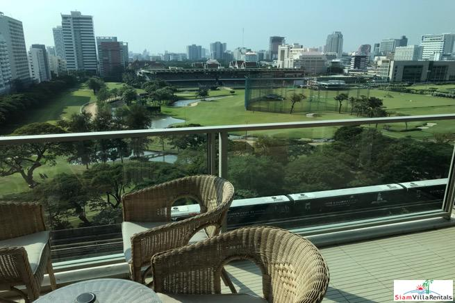 Two Bedroom Condo with Spectacular Views of The Royal Bangkok Sports Club in Ratchadamri