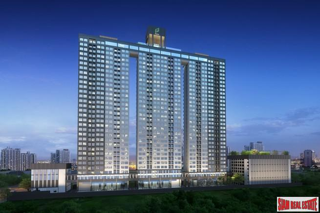 Big Two Bedroom Condos for Sale in New Ultra Modern Project, Hua Mak Bangkok