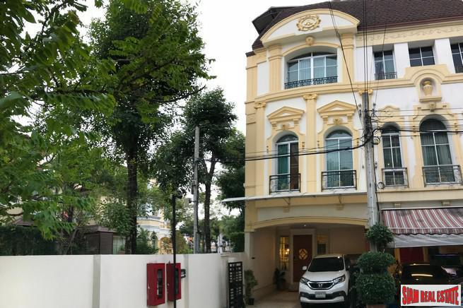Secure Three Storey, Three Bedroom Townhouse near Rama 3, Bangkok