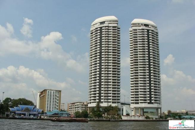 Spacious Three Bedroom Condo on the Chao Phraya River for Rent