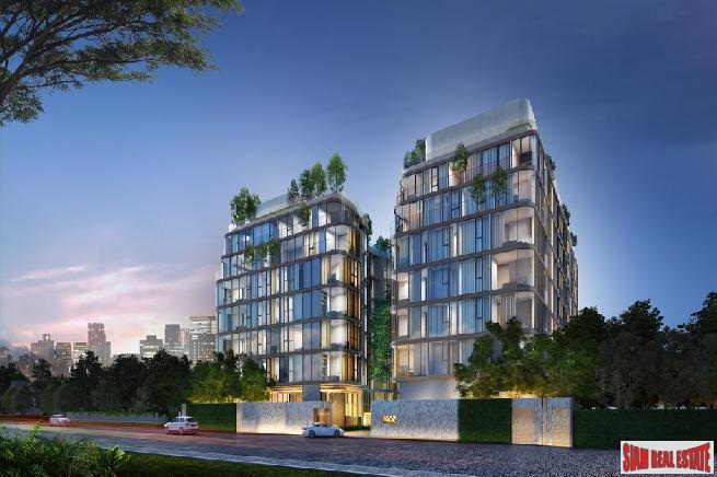 Award Winning Designed New Low-Rise Condo In Construction at Asoke, 200 Metres to Benchakiti ParkDeluxe Two Bedroom Condos in  New Low Rise Development, Asok - 5% Rental Guarantee for 3 Years