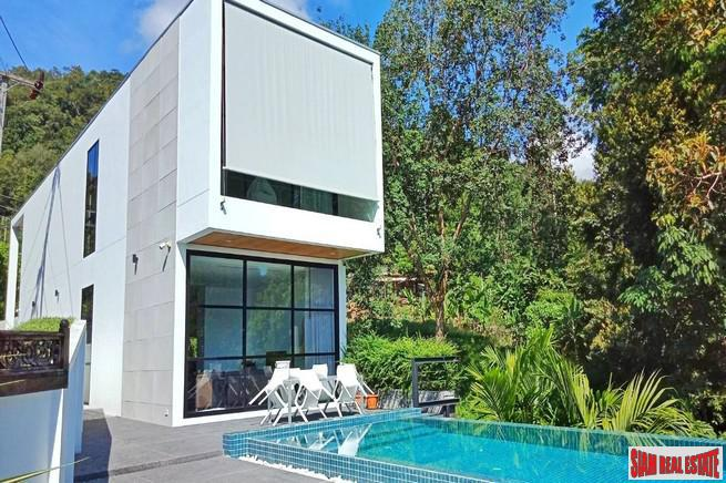 Modern Private Three Storey Pool Villa for Sale  in a Lush Rawai Landscape