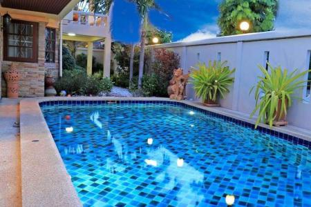 Large 4 bedroom private pool villa near beach for sale - Jomtien
