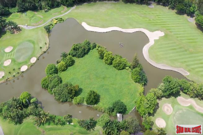 Unique Island of Land for Sale at the Renowned Summit Windmill Golf Club, Bangna