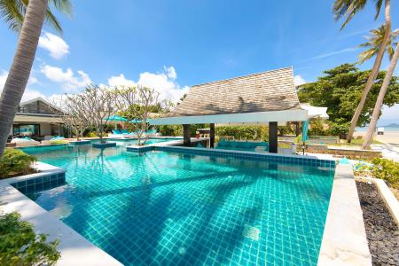 KOH SAMUI STUNNING BEACHFRONT VILLA FOR SALE  S1519