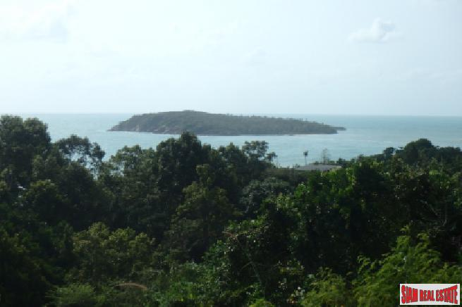 KOH SAMUI LAND FOR SALE WITH PANORAMIC SEA VIEWS S1582