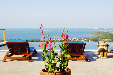 SEA VIEW KOH SAMUI VILLA FOR SALE IN GREAT LOCATION  S1535