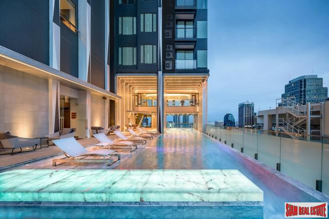 Asoke Two Bedroom Corner Condo  for Sale with 34th Floor City Views