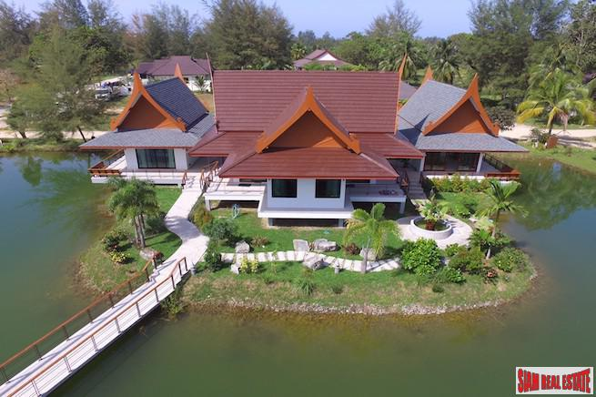 Large Open Two Bedroom Villa for Rent on a Private Lake in Khao Lak