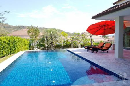 Luxury Pool Villa with mountain view for sell in Hua Hin, nice and quiet - 4584