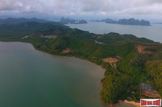 Spectacular Beachfront and Sea View  Land Plot in Phang Nga Bay