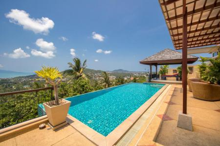 ELEGANT KOH SAMUI VILLA FOR SALE WITH PANORAMIC SEA VIEWS  S1271