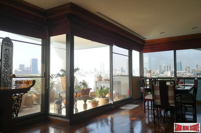 Extra Large Two Bedroom Corner Unit with City Views for Sale in Sathorn