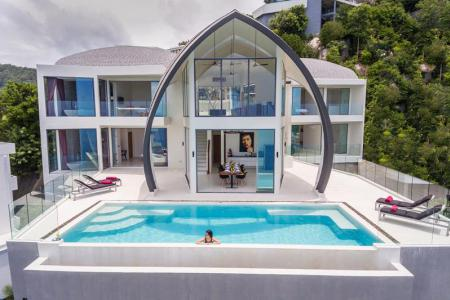 STUNNINGLY UNIQUE KOH SAMUI SEA VIEW VILLA FOR SALE  S1192