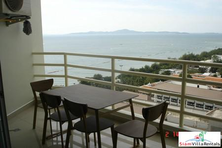 Large 48 sqm. studio unit with seaview near beach for rent - Jomtien