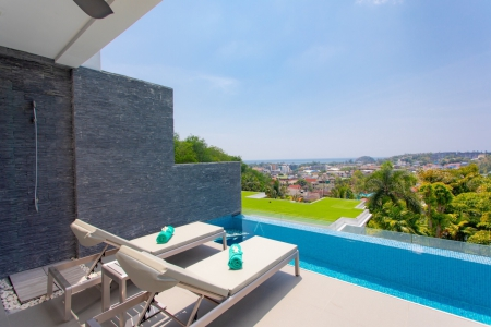Charming Modern Three Bedroom Pool Residence with Sweeping Kata Beach Views