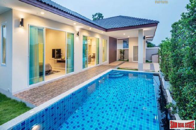 New project pool villa of 3 bedroom in a quiet area for sale - Hauyyai