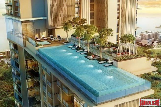 Beautiful 2 bedroom luxury condo near beach with sea view for sale - Jomtien