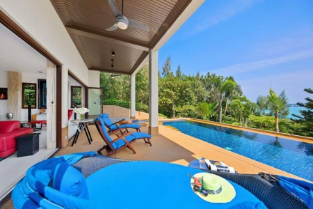 KOH SAMUI VILLA FOR SALE WITH SUNSET, SUNRISE & SEA VIEWS  S1161