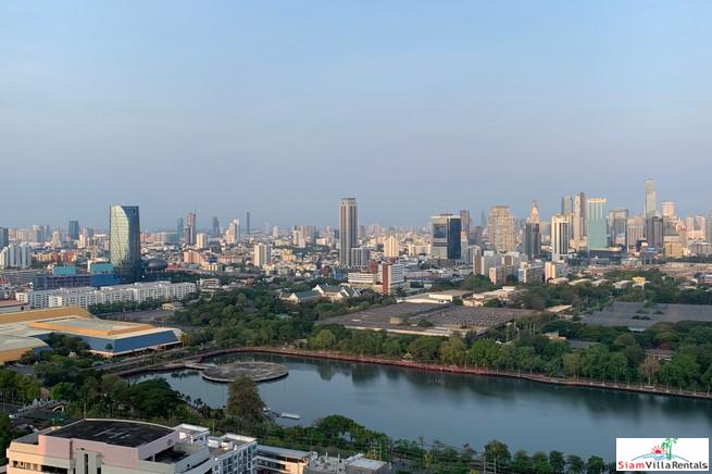 Amazing Views of Benchakiti Park from this Extra Large Three Bedroom Condo in Asok