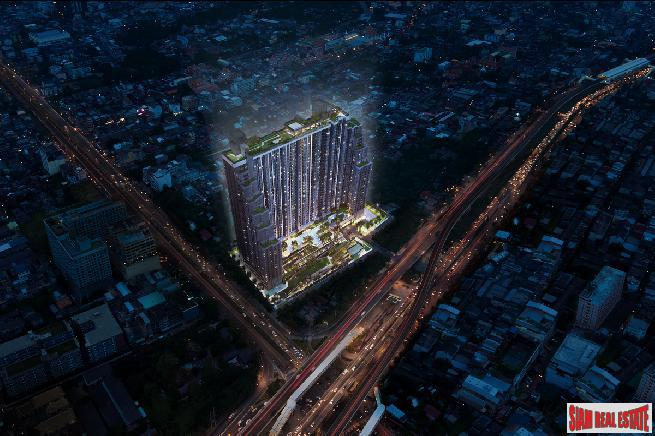 New Launch of High-Rise Condo only 150 metres to BTS with Amazing Facilities at Sathorn by Leading Thai Developer - Two Bed Units