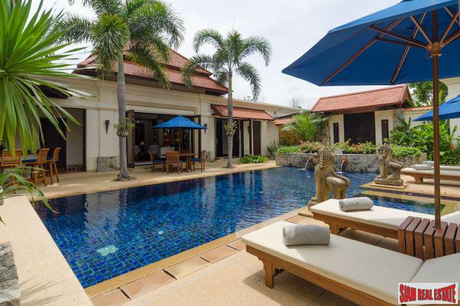 Private and Quiet Four Bedroom Pool Villa in Exclusive Secure Laguna Resident Estate