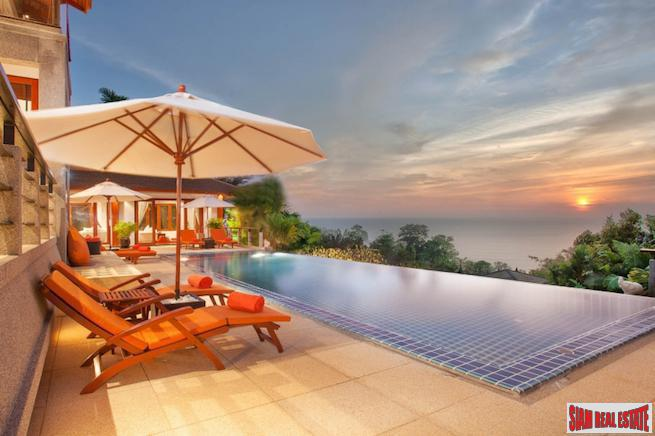 Magnificent Sea View Thai Pavilion Pool Villa Overlooking Surin Beach