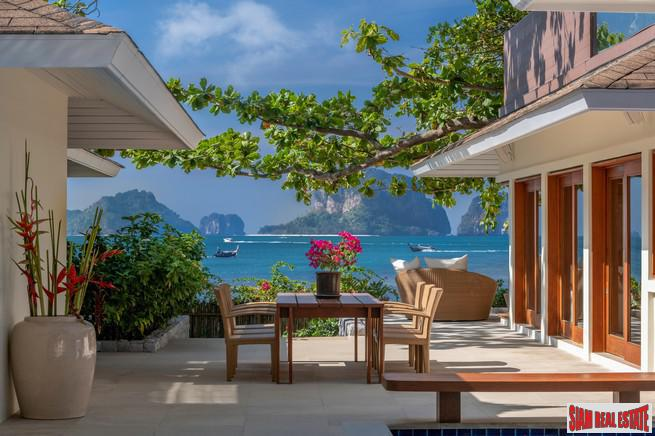 Magnificent Oceanfront Three Bedroom Villa with Pool on PhraNang Beach in Ao Nang