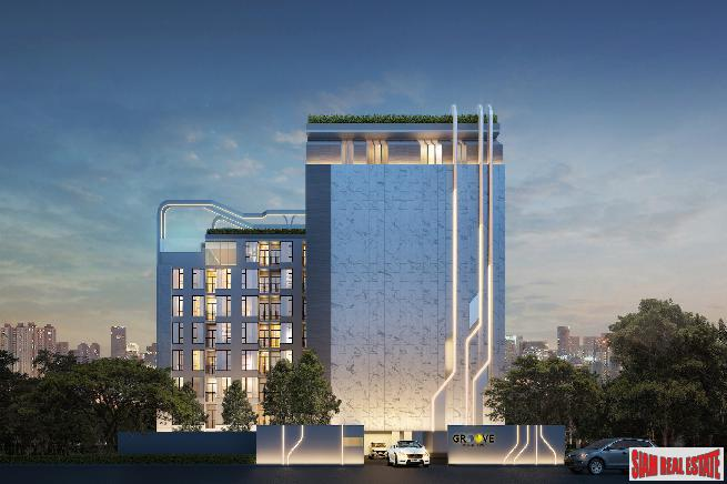 New Low-Rise Smart Condo in Construction with Extensive Facilities at Ratchada-Rama 9 Area