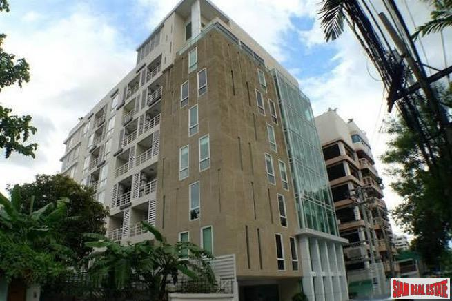 Spacious Partially Furnished One Bedroom on Top Floor of Low-Rise Condo in Thong Lo