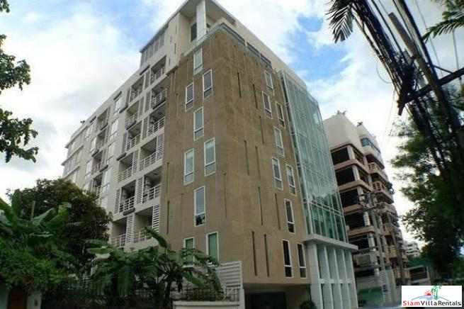 Partially Furnished Spacious One Bedroom on Top Floor of Low-Rise Condo in Thong Lo