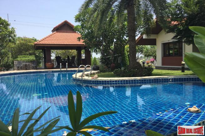Tropical Garden 5.5 Rai Compound with Four Buildings in Nakhon Pathom